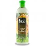 Balsam de par cu ananas si lime pt. par normal sau gras Faith in Nature 400 ml