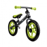 Bicicleta fara pedale Fin Plus Grey/ Green