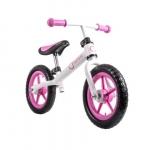 Bicicleta fara pedale Fin Plus White/ Pink
