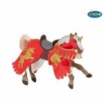 Cal cabrat cu unicorn rosu figurina Papo