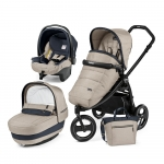 Carucior 3 in 1 Peg Perego Book Scout Matt Black Elite Modular Luxe Beige