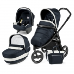 Carucior 3 in 1 Peg Perego Book Scout Matt Black Elite Modular Luxe Blue