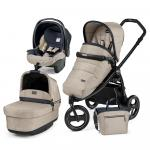 Carucior 3 in 1 Peg Perego Book Scout Matt Black Pop-Up Elite Luxe Beige