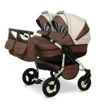 Carucior de gemeni Twin Brown