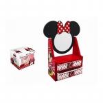 Caseta bijuterii cu oglinda Minnie Mouse rosie