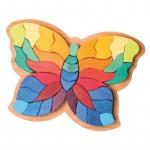 Fluturele Curcubeu puzzle senzorial si creativ