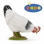 Gaina alba Pecking figurina Papo