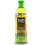 Gel de dus si spuma de baie cu ananas si lime Faith in Nature 400 ml