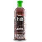Gel de dus si spuma de baie cu ciocolata Faith in Nature 400 ml