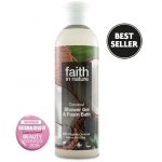Gel de dus si spuma de baie cu cocos Faith in Nature 400 ml