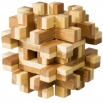 Joc logic IQ din lemn bambus Magic blocks puzzle 3d