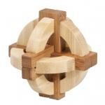 Joc logic IQ din lemn bambus n cutie metalic 1