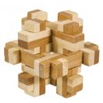 Joc logic IQ din lemn bambus n cutie metalic 10