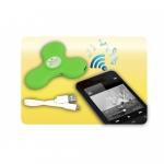 Jucarie interactiva Wireless spinner cu efecte luminoase verde