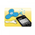Jucarie interactiva Wireless spinner cu efecte luminoase bleu
