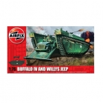 Kit constructie Airfix BUFFALO IV si WILLYS JEEP