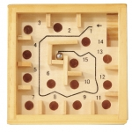 Labirint numerotat cu bil natur