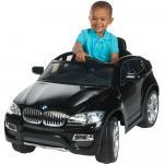 Masinuta electrica cu telecomanda si roti din cauciuc BMW X6 Black
