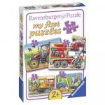 Primul meu puzzle utilaje agricole 2/4/6/8 piese