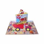 Puzzle santier cu camion mare rosu - Grafix