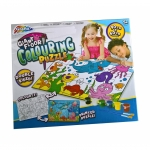 Puzzle urias cu fata dubla si activitate colorare - Grafix
