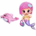 Figurine Pyp cu animale - Sirena cu delfin