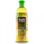 Sampon cu grapefruit si portocale pt. par normal sau gras Faith in Nature 400 ml