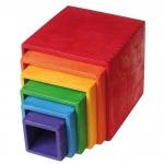 Set mare de cutii colorate curcubeu