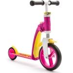 Trotineta copii transformabila 2 in 1 Scoot & Ride Highwaybaby+ roz/galben