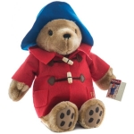 Ursuletul Paddington cu haina rosie 36 cm
