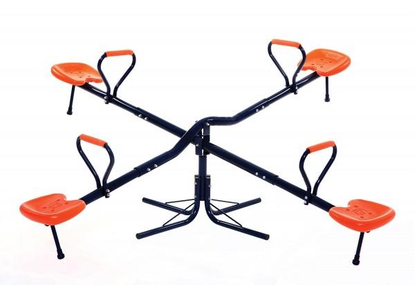Balansoar copii dublu pentru exterior MVS din metal rotire 360 grade