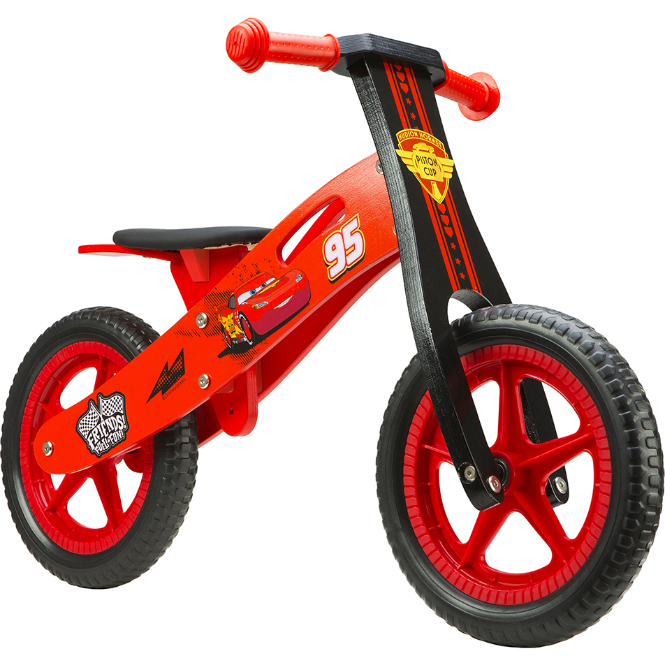 Bicicleta din lemn fara pedale 12 Cars Seven SV9906