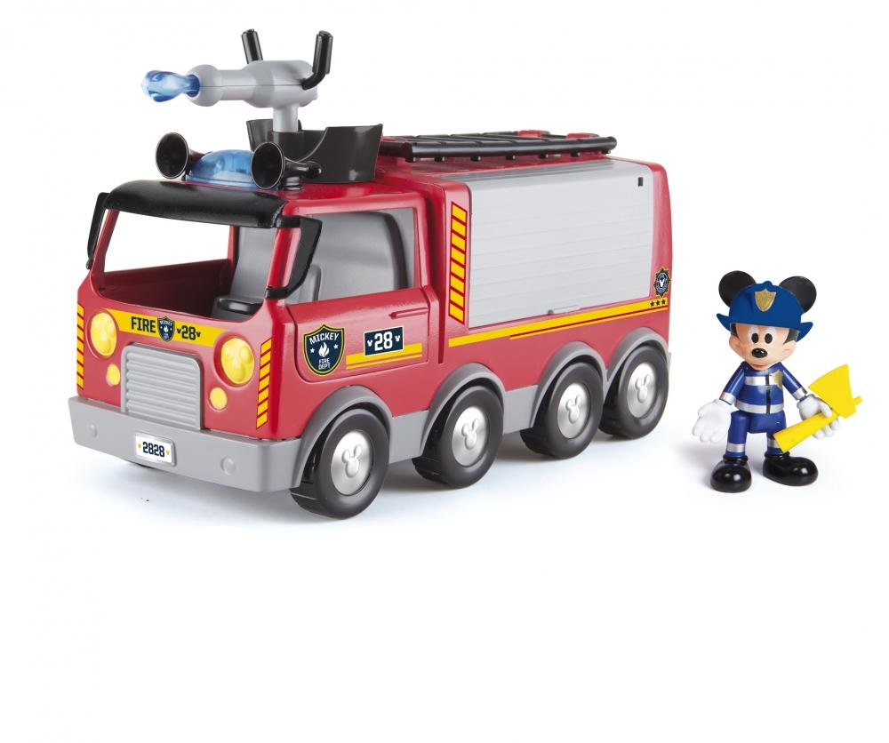 Camion de pompieri cu lumini, sonore, figurina articulata si accesorii - Mickey Mouse