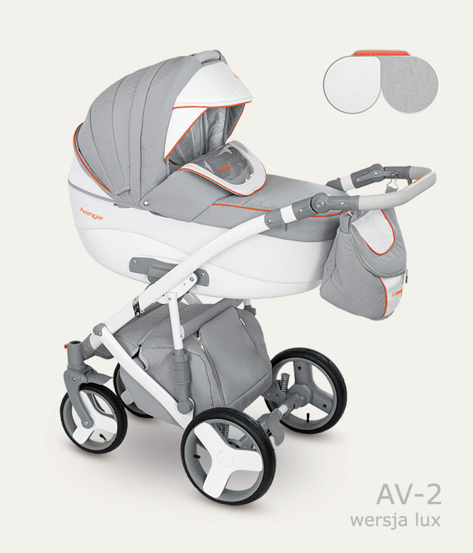 Carucior copii 2 in 1 Avenger Lux Camarelo color AV-2