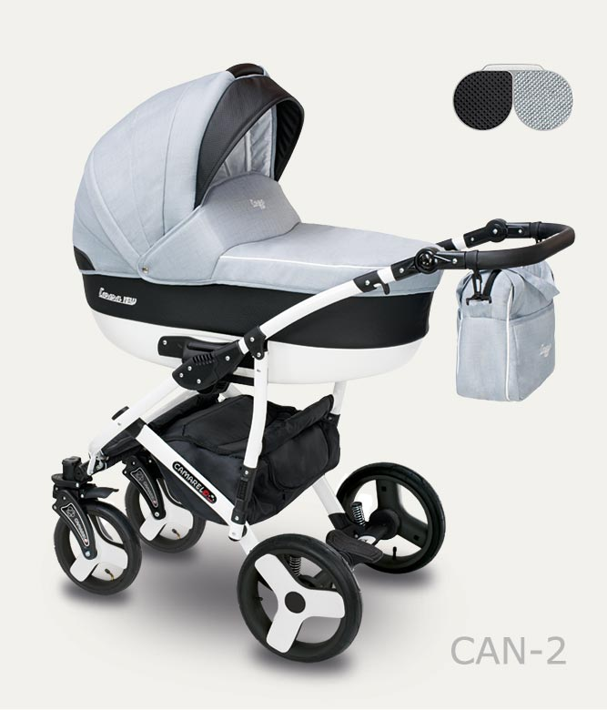 Carucior copii 2 in 1 Carera New Camarelo color CAN-2