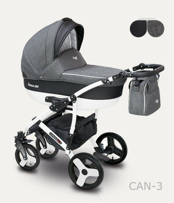 Carucior copii 2 in 1 Carera New Camarelo color CAN-3