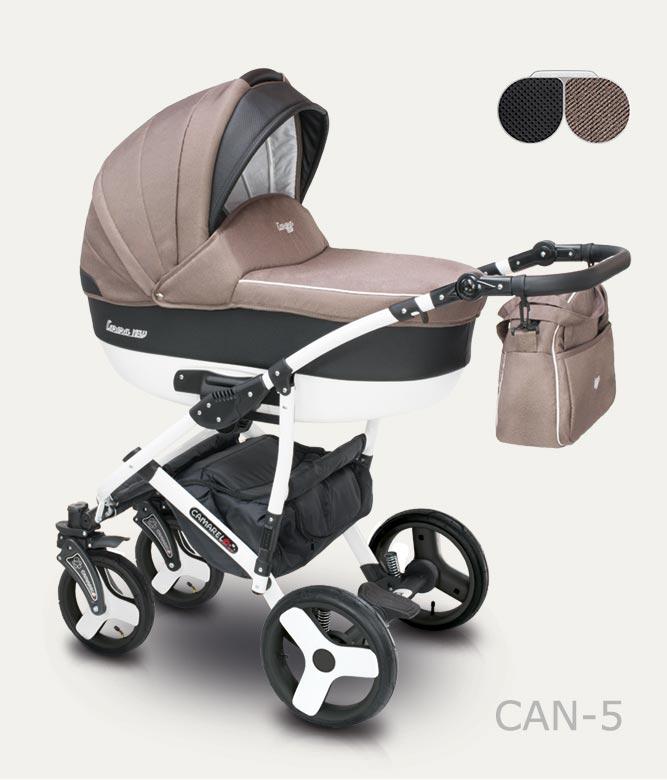 Carucior copii 2 in 1 Carera New Camarelo color CAN-5