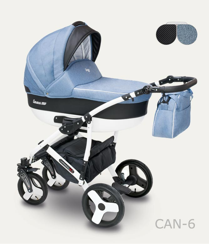 Carucior copii 2 in 1 Carera New Camarelo color CAN-6 imagine
