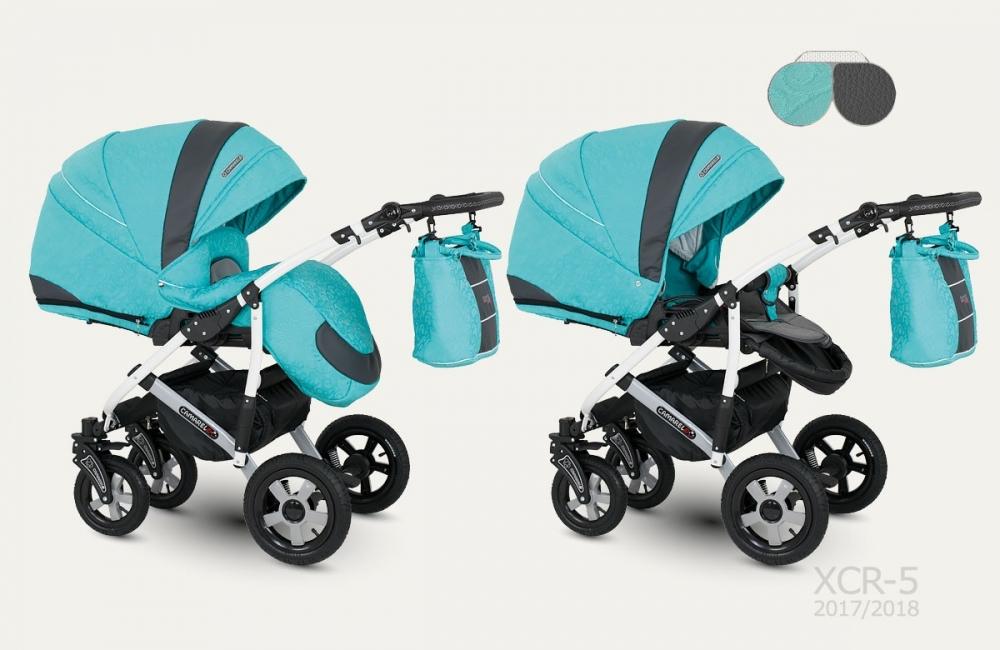 Carucior copii 2 in 1 Carmela Jacard Camarelo color XCR-5