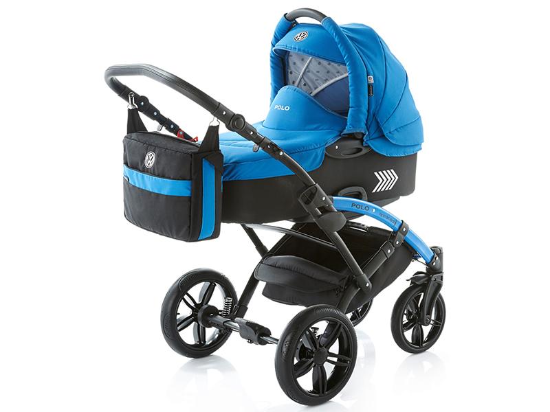Carucior copii 2 in 1 cu landou Knorr-Baby Volkswagen Polo albastru - 5