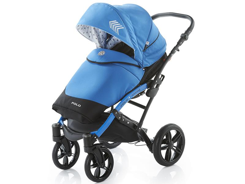 Carucior copii 2 in 1 cu landou Knorr-Baby Volkswagen Polo albastru - 2