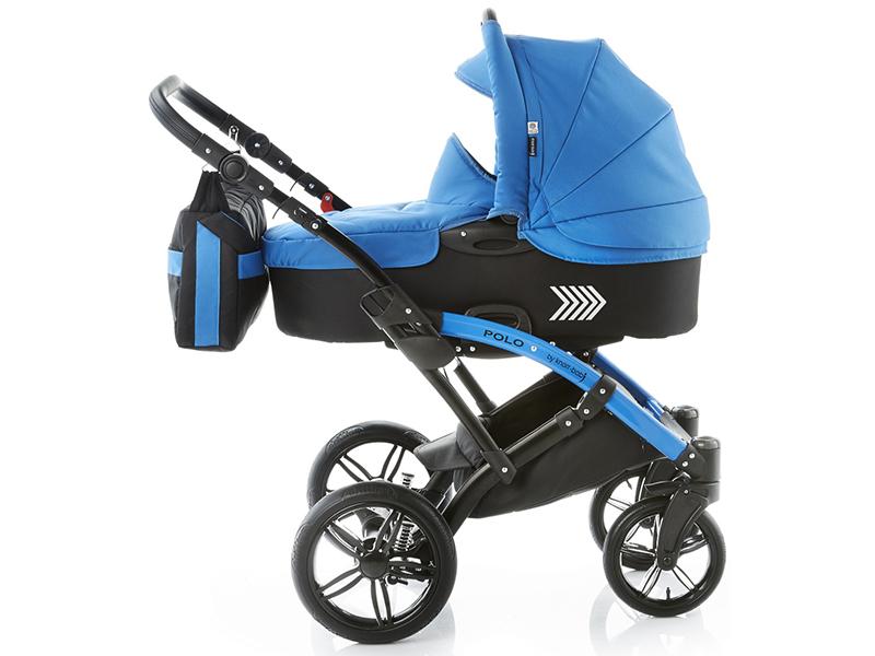 Carucior copii 2 in 1 cu landou Knorr-Baby Volkswagen Polo albastru - 4