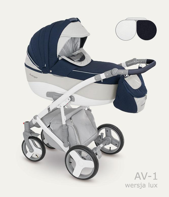 Carucior copii 3 in 1 Avenger Lux Camarelo color AV-1