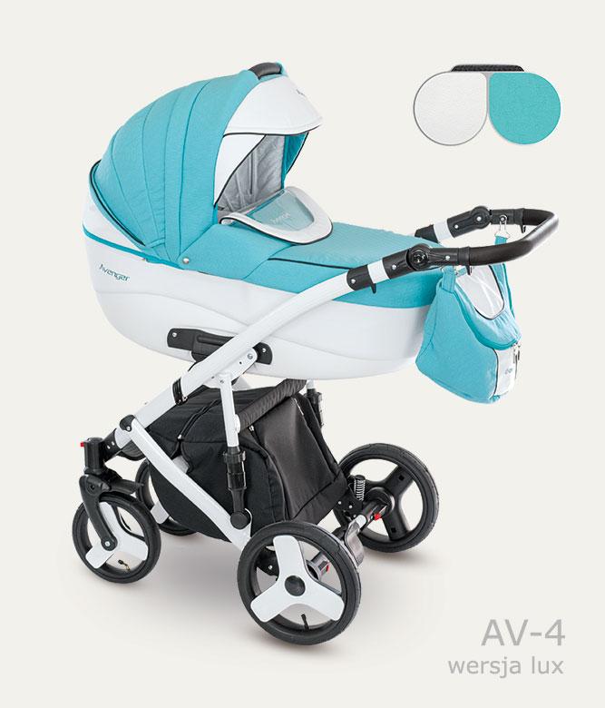 Carucior copii 3 in 1 Avenger Lux Camarelo color AV-4