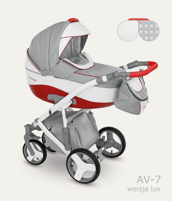 Carucior copii 3 in 1 Avenger Lux Camarelo color AV-7