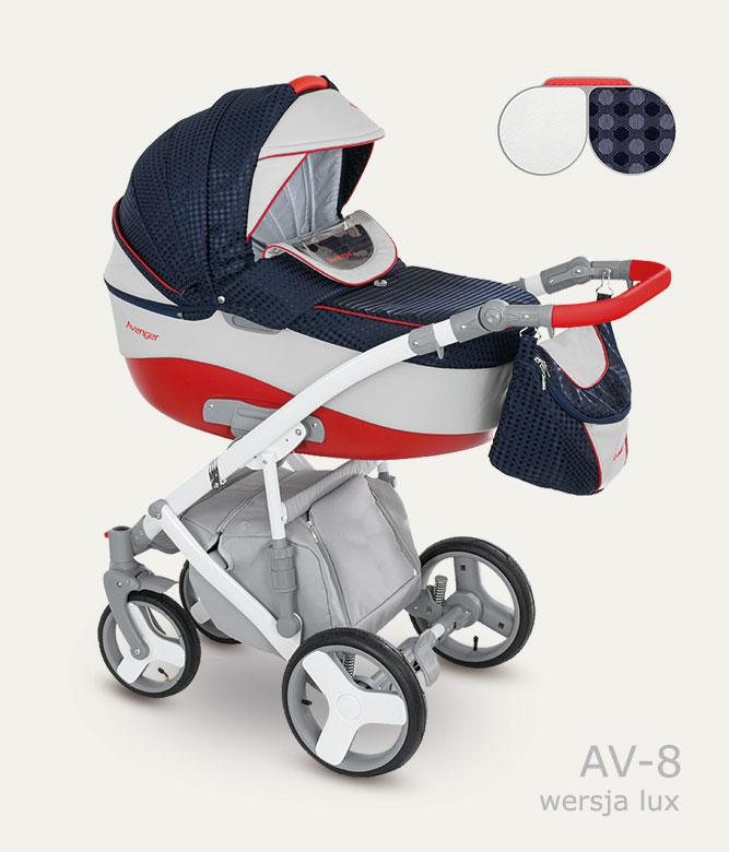 Carucior copii 3 in 1 Avenger Lux Camarelo color AV-8