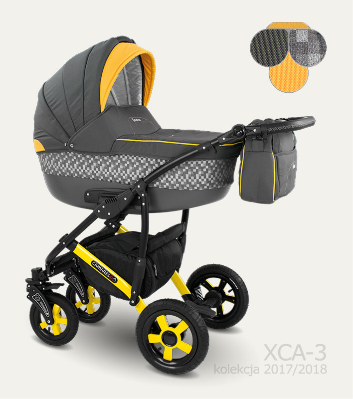Carucior copii 3 in 1 Carera 2017 Camarelo color XCA-3