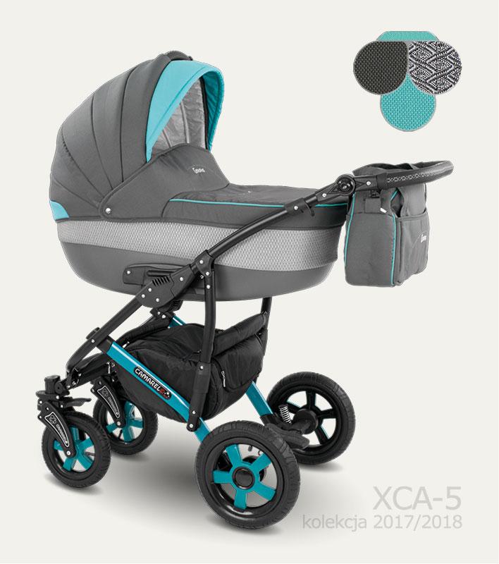 Carucior copii 3 in 1 Carera 2017 Camarelo color XCA-5