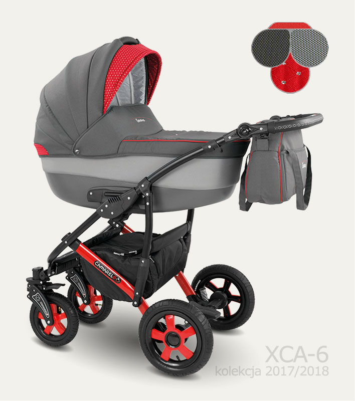 Carucior copii 3 in 1 Carera 2017 Camarelo color XCA-6