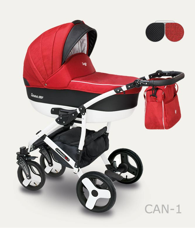 Carucior copii 3 in 1 Carera New Camarelo color CAN-1